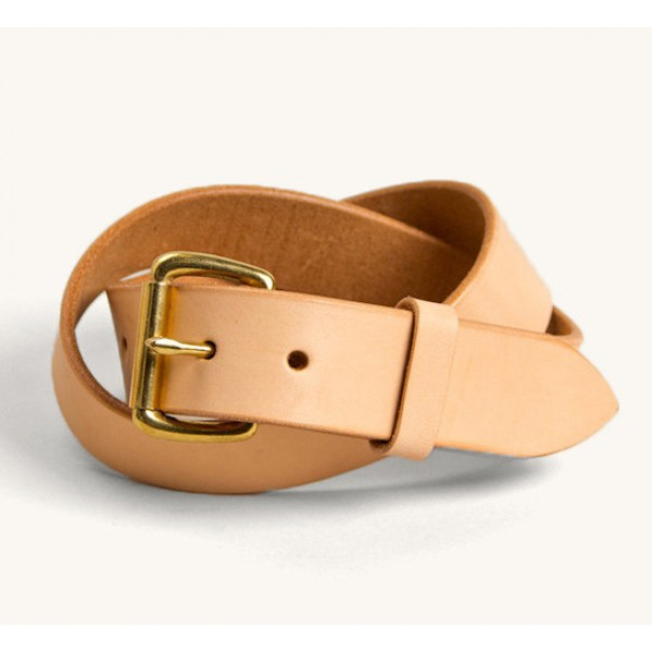 Tanner Goods Standard Belt (Natural/Brass)