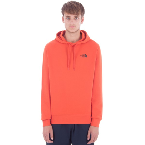 The North Face Seasonal Drew Peak Pullover Hooded Sweatshirt (Tibetan Orange)