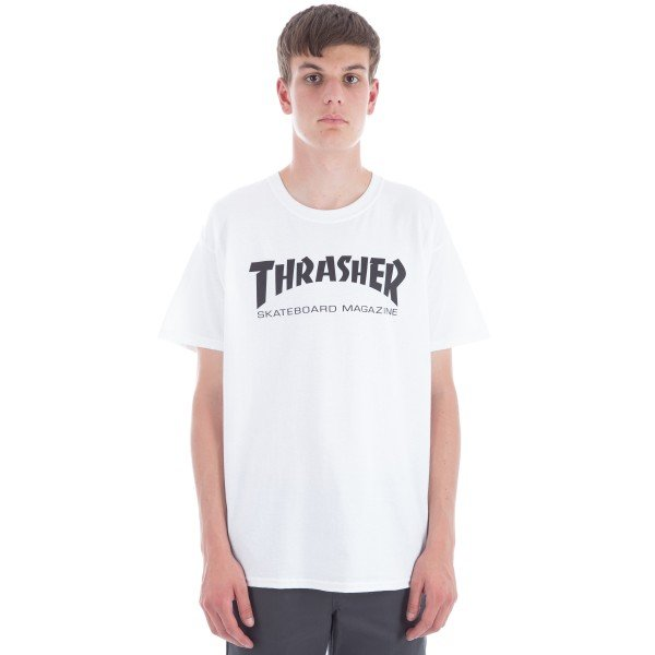 Thrasher Logo T-Shirt (White/Black)