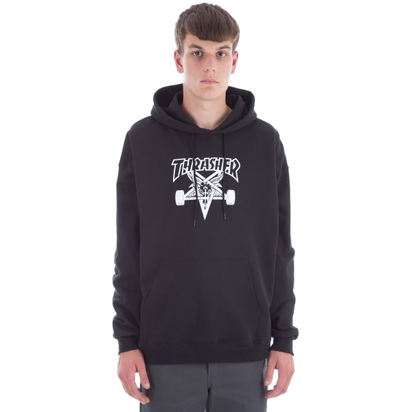 Thrasher Skategoat Pullover Hooded Sweatshirt (Black)