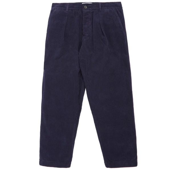 Universal Works Corduroy Pleated Track Pant (Navy)