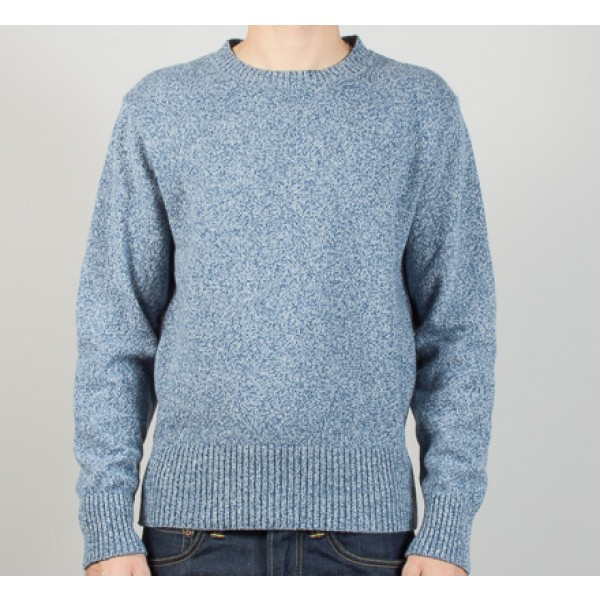 Universal Works Crew Sweater (Blue Marle Wool)
