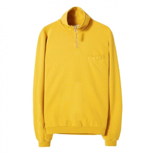Universal Works Diag Loopback Zip Neck Sweatshirt (Sunshine)