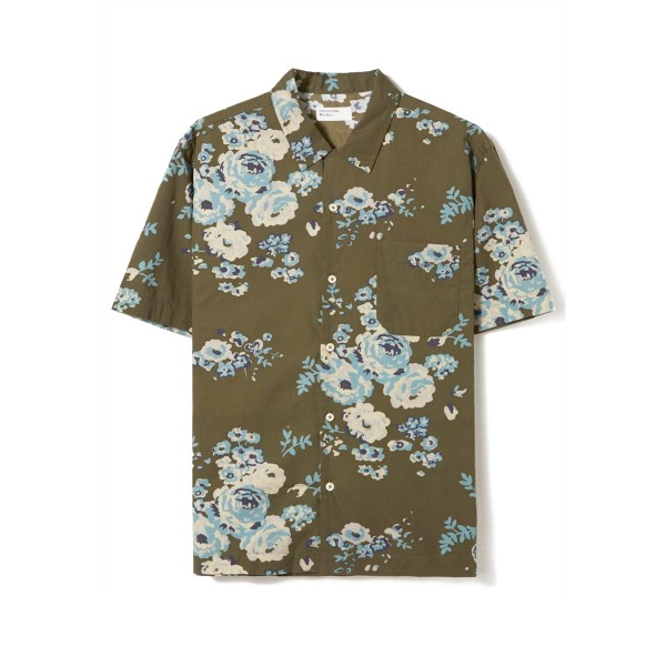 Universal Works Flower Poplin Road Shirt (Olive)