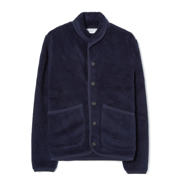 Universal Works Lancaster Jacket (Navy Mountain Fleece)