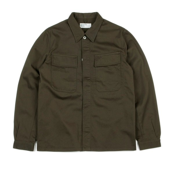 Universal Works Military Work Shirt (Olive Cotton Twill)