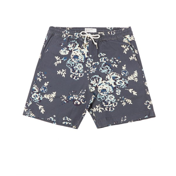 Universal Works Print Canvas Beach Short (Flower)