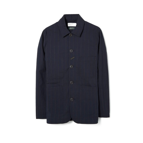 Universal Works Raised Pinstripe Bakers Jacket (Navy)