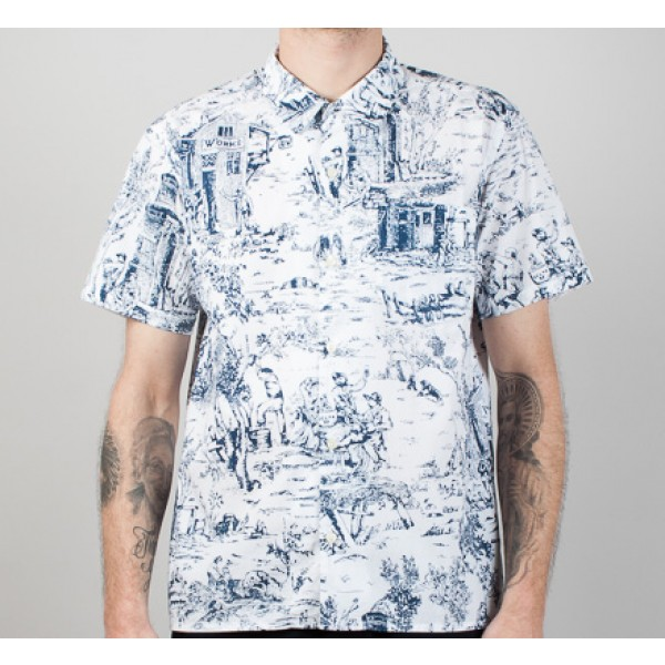 Universal Works Road Shirt (G.W Poplin Blue)