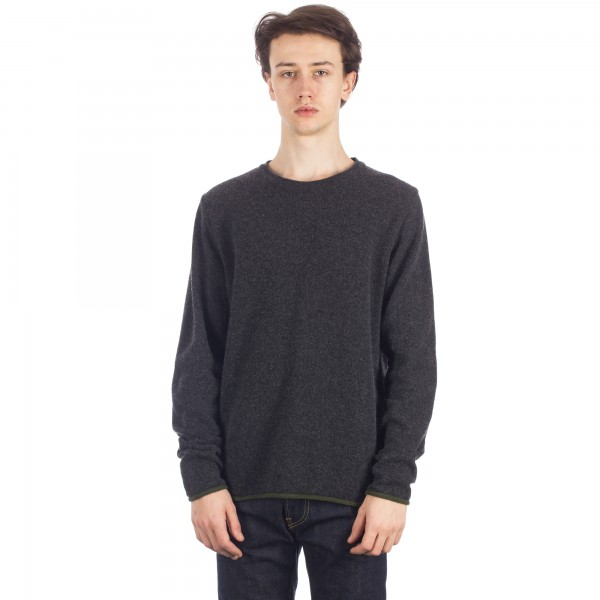 Universal Works Soft Wool Crew Neck Sweatshirt (Charcoal)