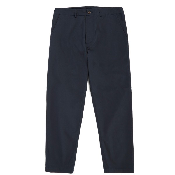 Universal Works Texture Pinstripe Military Chino (Navy)