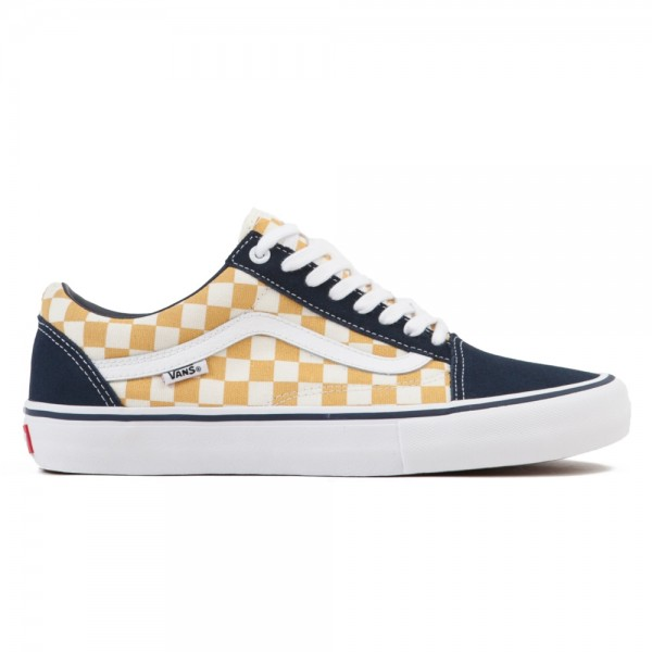 Vans Checkerboard Old Skool Pro (Dress Blues/Ochre)