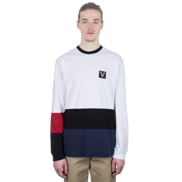 Vans Chima Colourblock Long Sleeve T-Shirt (White)