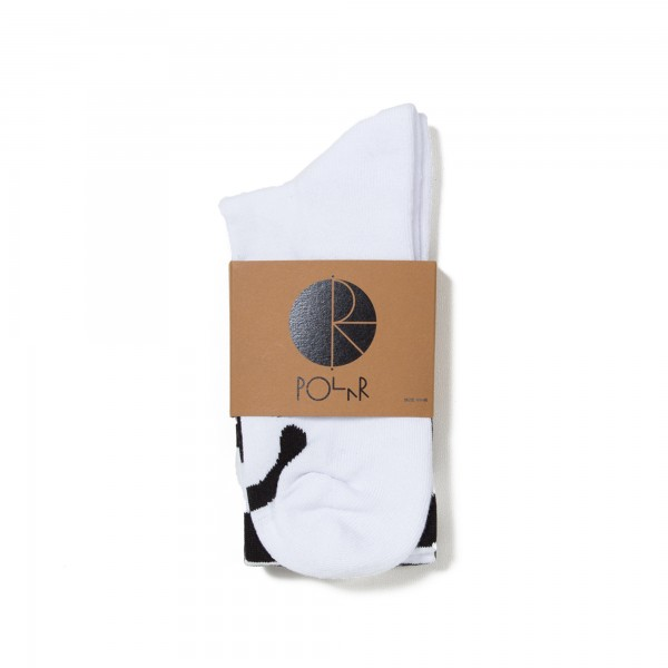 Polar Happy Sad Classic Socks (White)