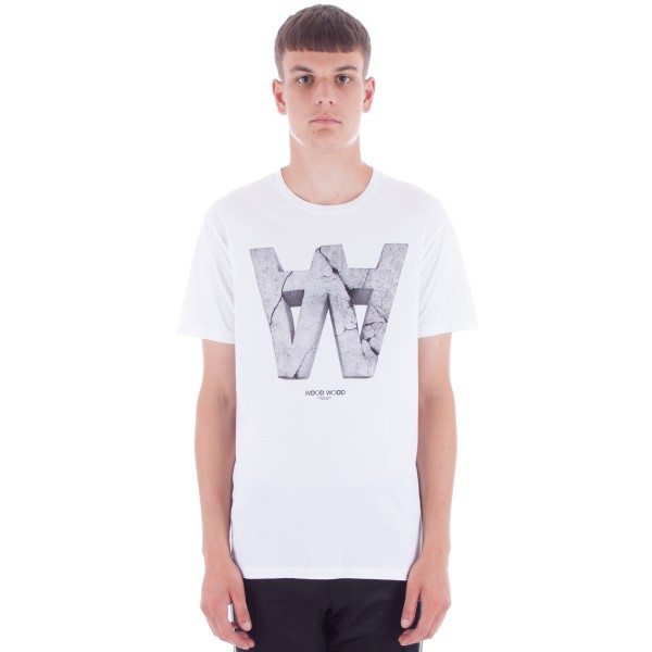 Wood Wood AA Crack T-Shirt (White)