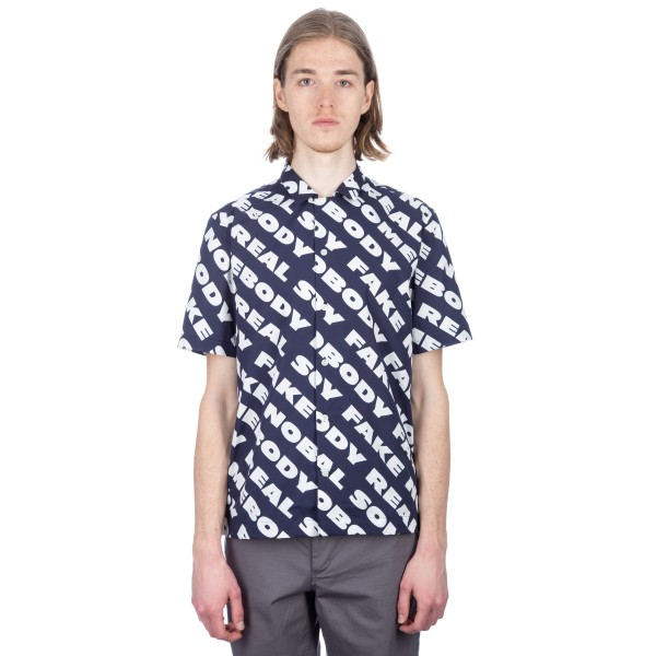 Wood Wood Brandon Shirt (Navy Nosome)