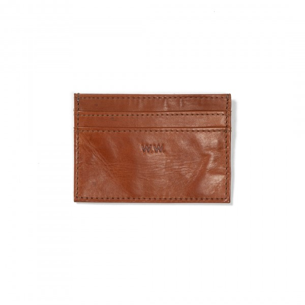 Wood Wood Card Holder (Brown Leather)