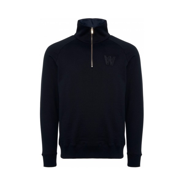 Wood Wood Curtis Quarter Zip Sweatshirt (Navy)