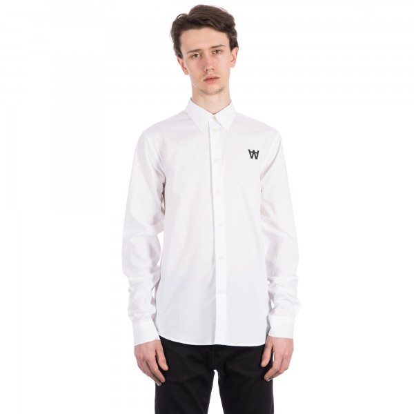 Wood Wood Desmond Long Sleeve Shirt (White)