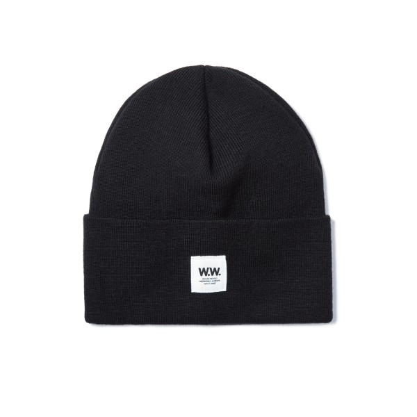 Wood Wood Gerald Tall Beanie (Black)