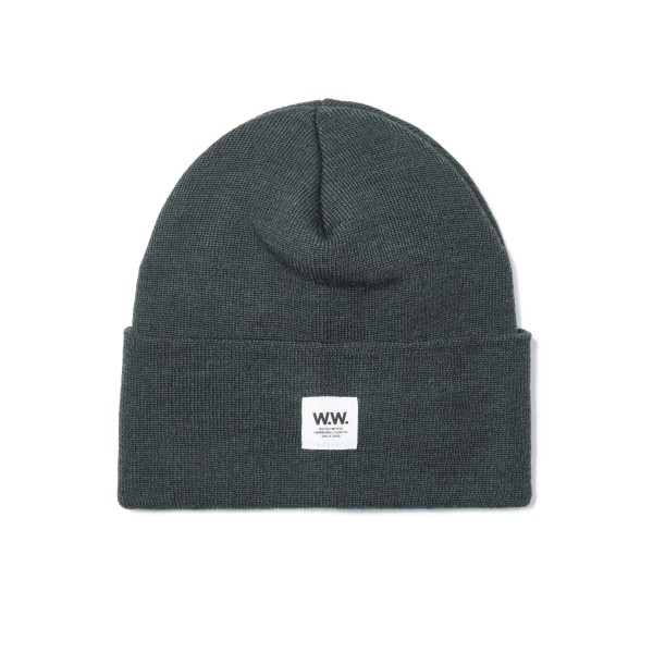 Wood Wood Gerald Tall Beanie (Dark Green)