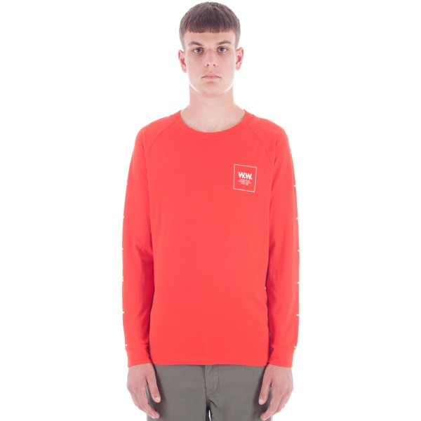 Wood Wood Han Long Sleeve T-Shirt (Burnt Red)
