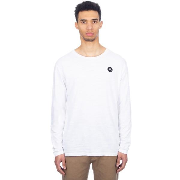 Wood Wood Peter Long Sleeve T-Shirt (White)