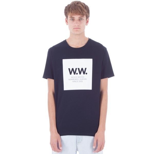 Wood Wood WW Square T-Shirt (Navy)