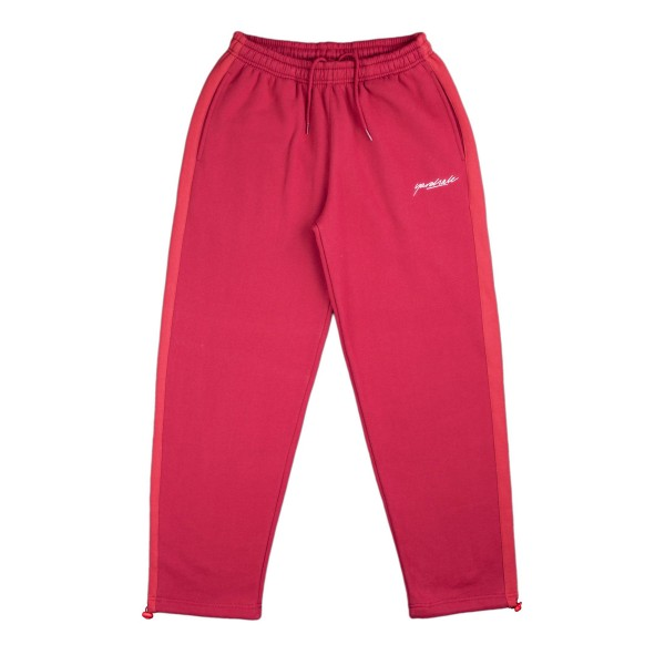 Yardsale 2Tone Tracksuit Bottoms (Cardinal/Cherry)