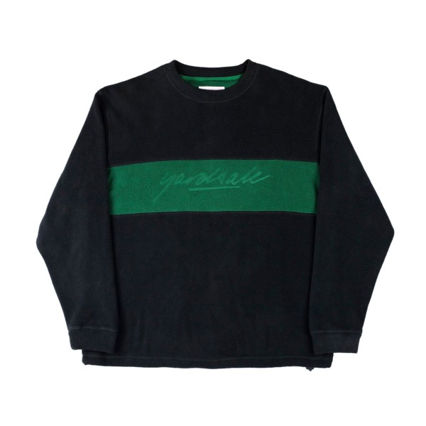 Yardsale Embossed Crew Neck Fleece (Black/Green)
