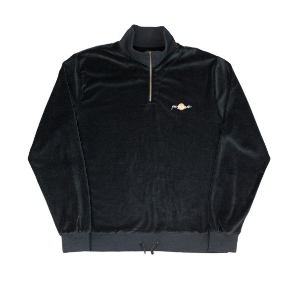 Yardsale Miami Velour Quarter Zip Sweatshirt (Black)