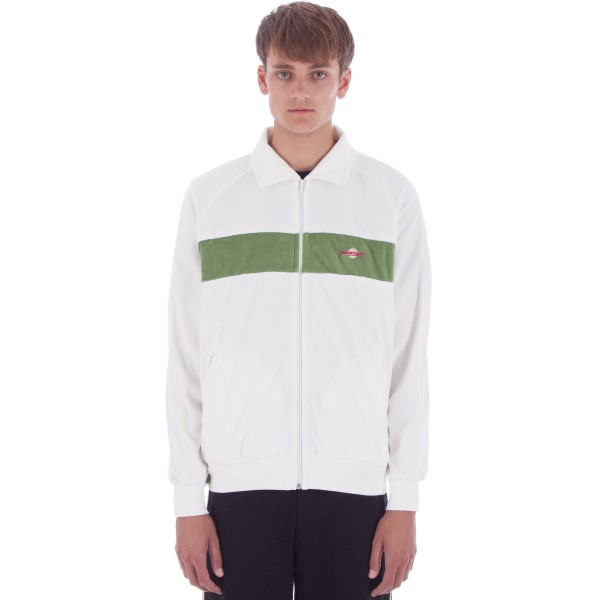 Yardsale Velour Tracksuit Jacket (White/Green)
