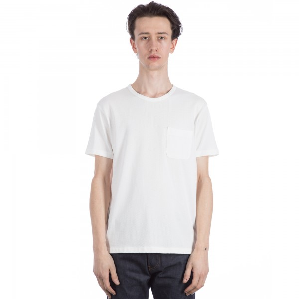 YMC Perforated Pocket T-Shirt (White)