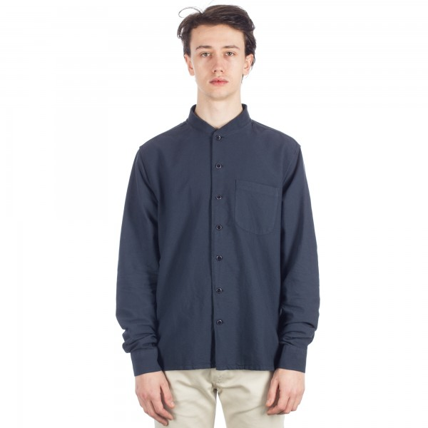 YMC Rib Collar Shirt (Navy)