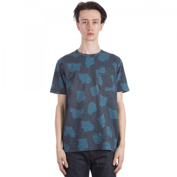 YMC Spot Cloud T-Shirt (Blue)