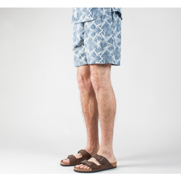 YMC Star Print Shorts (Chambray)