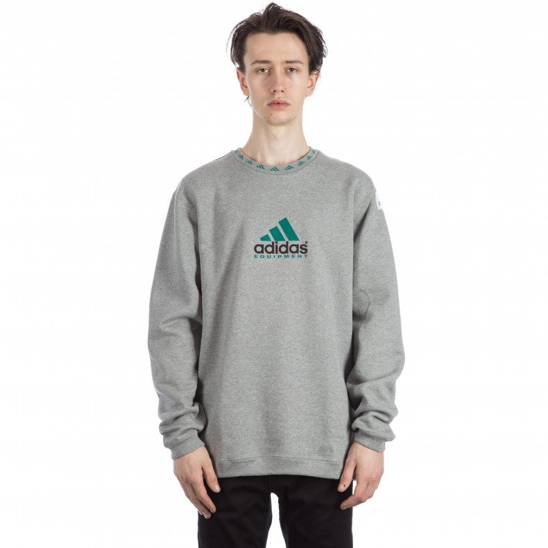 86b28f0e06d5 Adidas EQT Crew Neck Sweatshirt (Core Heather) - Consortium.