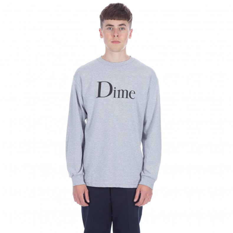 1f701c0fc Dime Classic Logo Long Sleeve T-Shirt (Grey) - Consortium