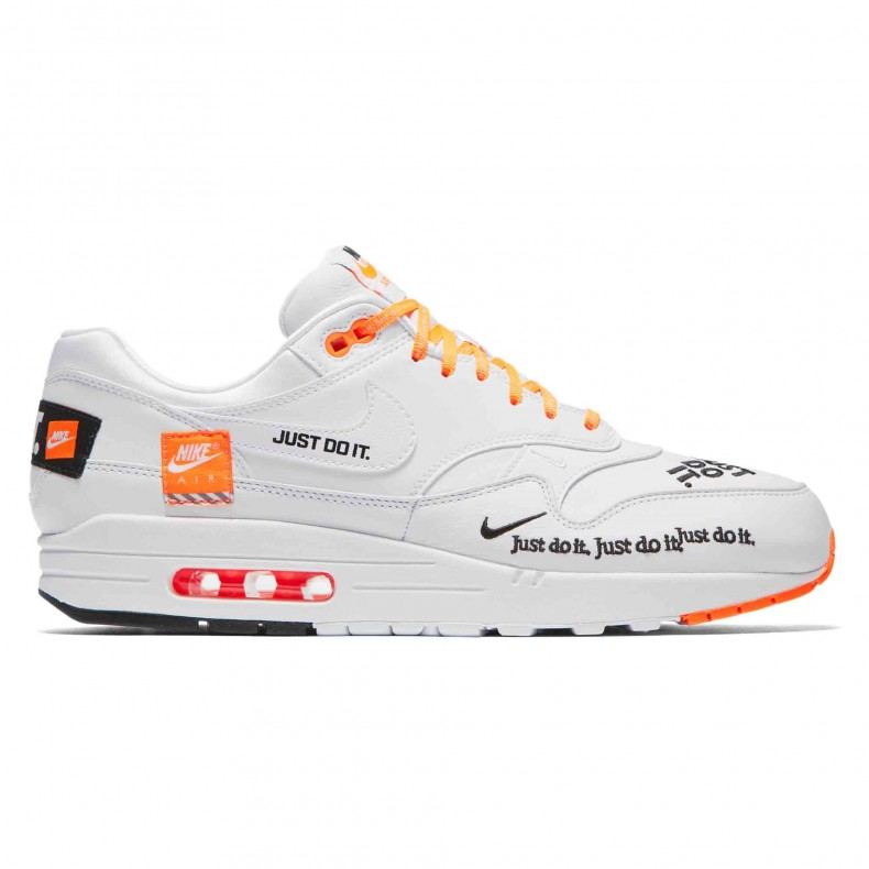 competitive price c9517 ef1ff Nike Air Max 1 SE  Just Do It . (White White-Total Orange)