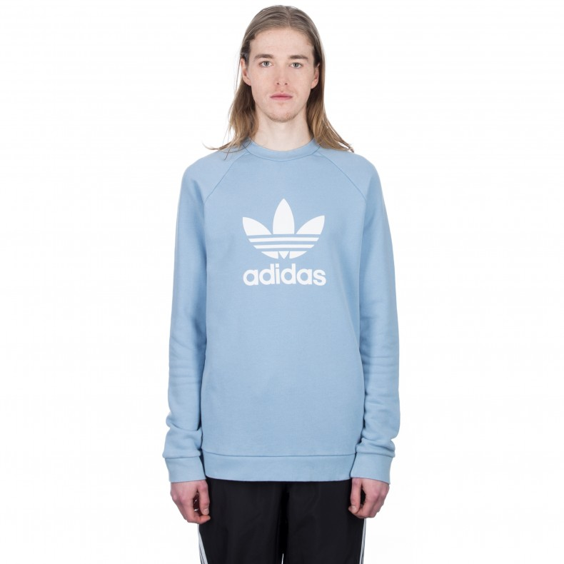 4a49f539531d adidas Orginals Trefoil Warm-Up Crew Neck Sweatshirt (Ash Blue) -  Consortium.