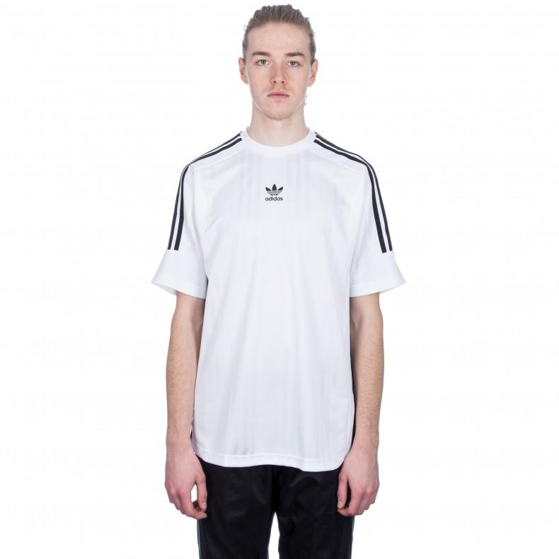 8b9923e9dc adidas Originals 3-Stripes Jacquard Jersey (White Black) - Consortium.