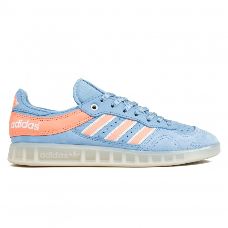release date: bfb54 acc72 adidas Originals by Oyster Holdings Handball Top (Ash Blue/Chalk  Coral/Chalk White)