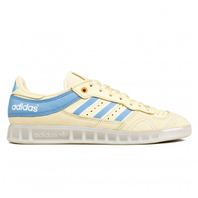 606f5099ae adidas Originals by Oyster Holdings Handball Top (Easy Yellow/Ash  Blue/Clear White)