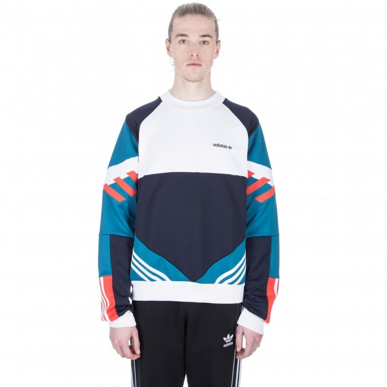 Adidas Originals Blue Chop Shop Crewneck Sweatshirt for men