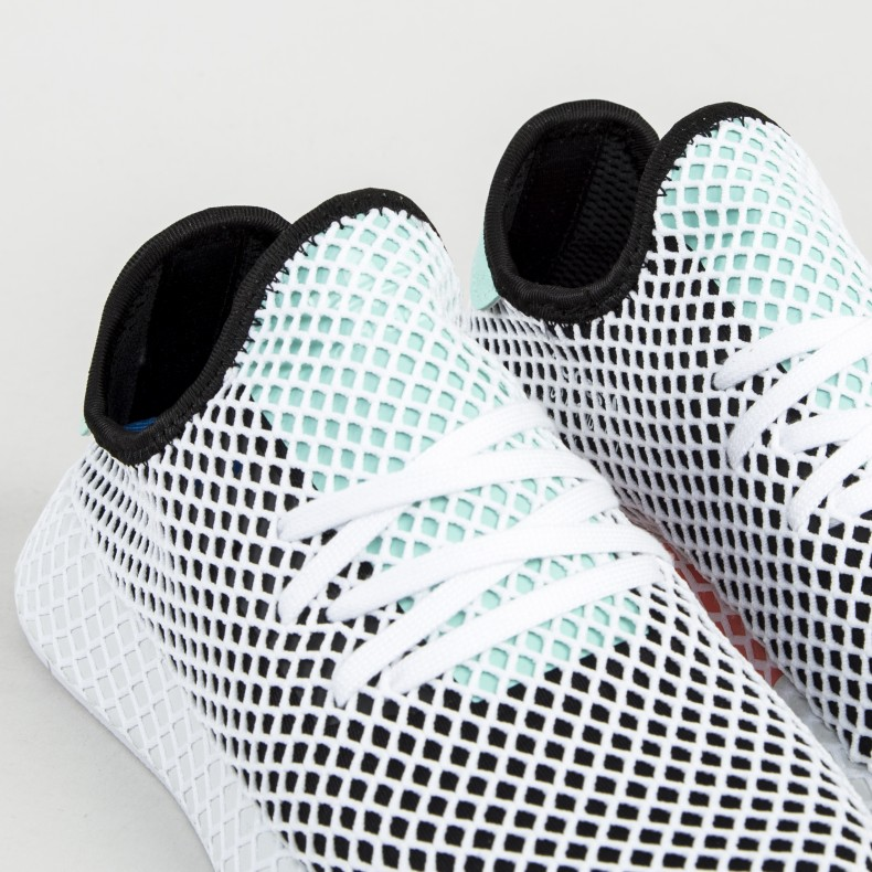 adidas Originals Deerupt Runner Core BlackEasy GreenFootwear White