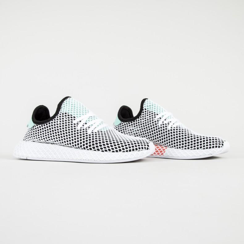adidas originali deerupt runner (nucleo nero / verde / calzature facile
