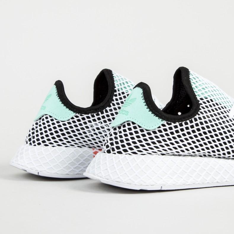 best sneakers 0672b f57d0 adidas Originals Deerupt Runner. (Core BlackEasy GreenFootwear White)