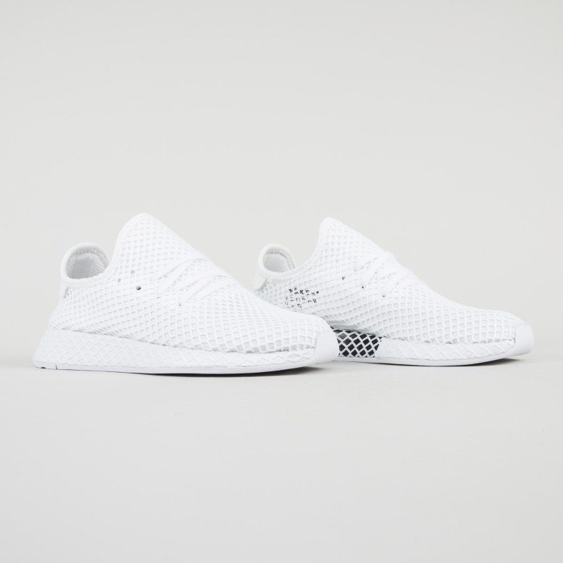 7d3f3c4cb adidas Originals Deerupt Runner (Footwear White Footwear White ...