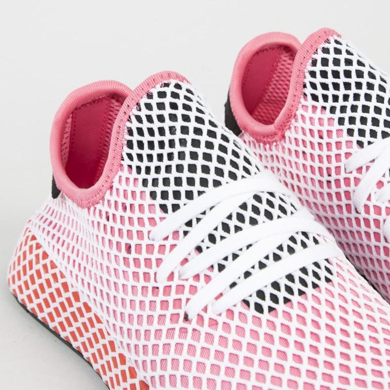 sports shoes 29cf7 8bf2b adidas Originals Deerupt Runner W. (Chalk PinkChalk PinkBold Orange)