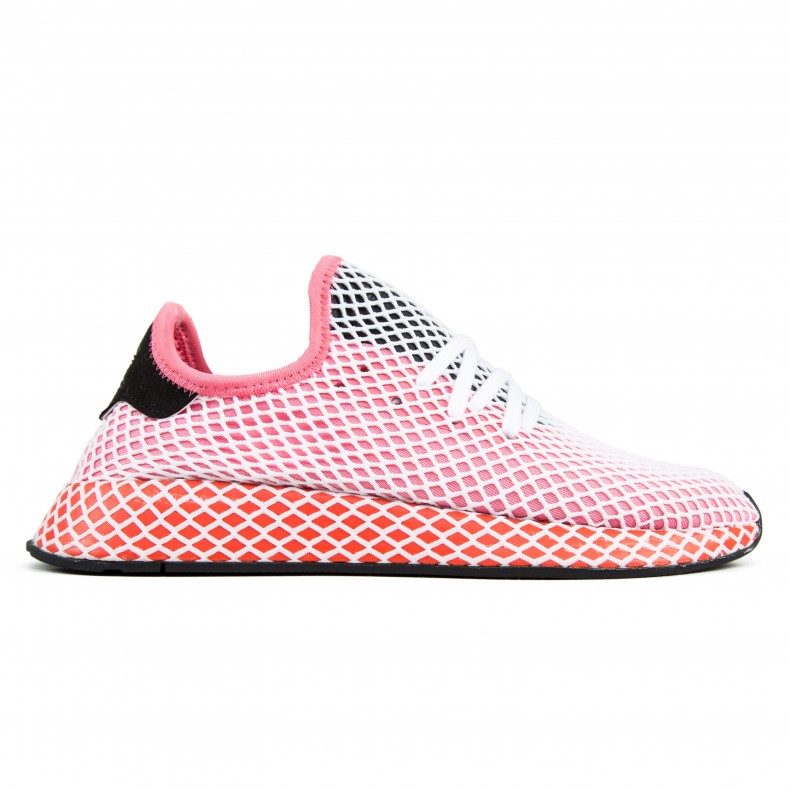 6c84a9cd6 adidas Originals Deerupt Runner W (Chalk Pink Chalk Pink Bold Orange) -  Consortium.
